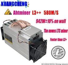 Б/у старая микросхема ASIC, Майнер ANTMINER L3 ++ 580 м (без блока питания), Scrypt, Майнер с солью, майнинговая машина лучше, чем ANTMINER L3 +