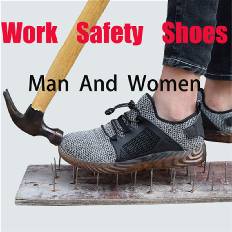 Male Shoes Boots Work Impact-Resistant Safety Plus-Size Brand Toe Steel Soft Mid-Sole