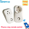 Itead Sonoff S20 Smart Wifi Socket Switch CN UK US EU Plug Remote Control Socket Outlet Timing Switch for Smart Home Automation