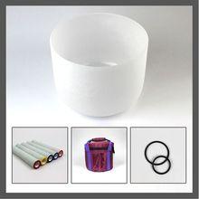 8 дюймов кварцевые хрустальные поющие чаши 432 Гц с сумкой для переноски, уплотнительное кольцо и хрустальный молоток