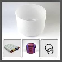 8 polegada taças de cristal de quartzo de 432 hz com Carreg o saco,-ring e Cristal marreta