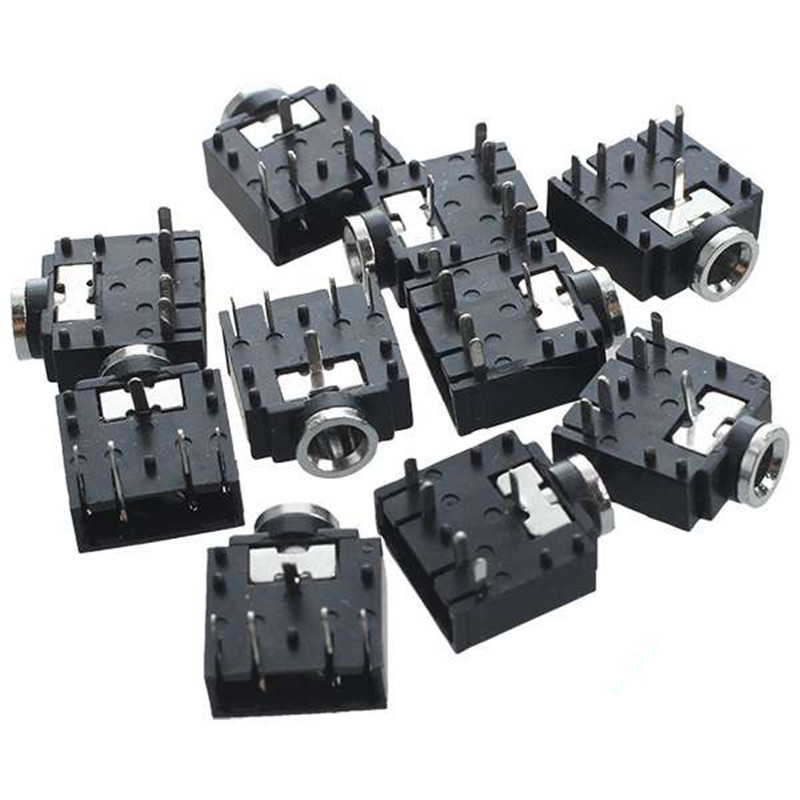 цена на IMC Hot 10 Pcs 5 Pin PCB Mount Female 3.5mm Stereo Jack Socket Connector