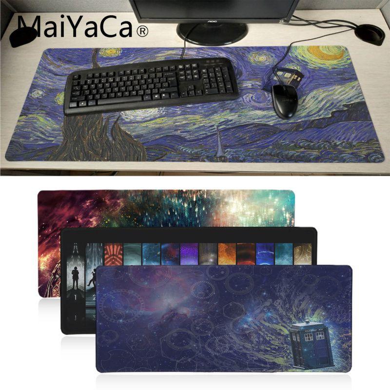 Maiyaca New Design Doctor Who Wallpaper Beautiful Anime Mouse Mat Locking Edge Gaming Mousepad Mat Keyboard Mat Table Pad