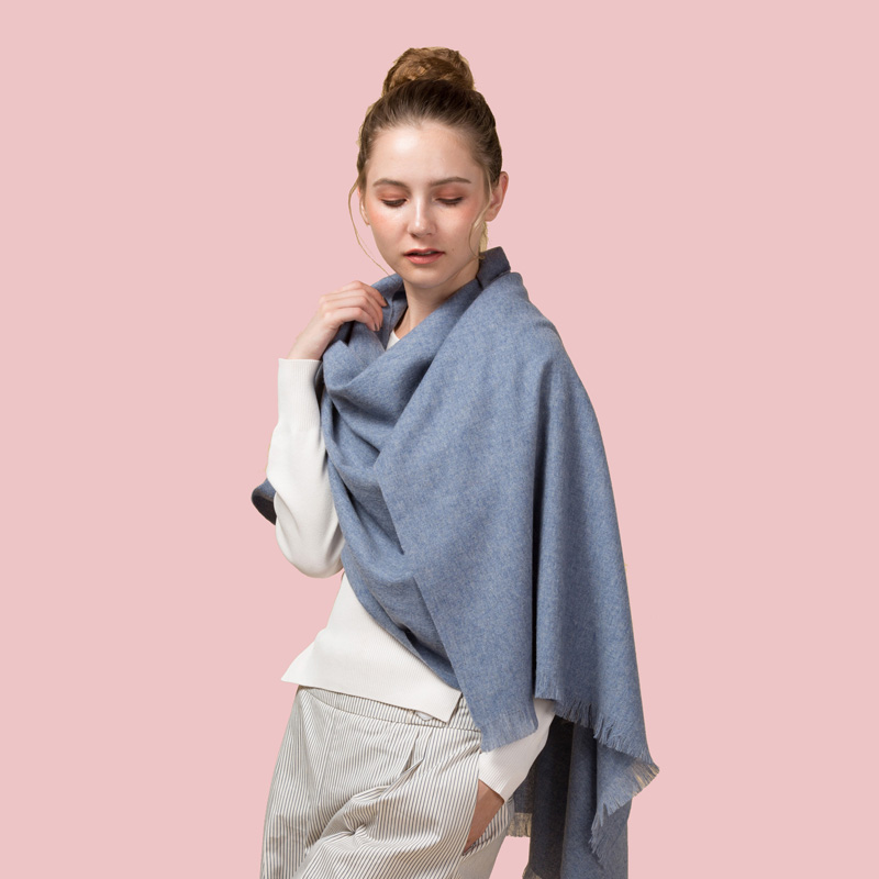 Luxury Women Warm Cashmere Pashmina Large Size Stole Winter Wool Scarf for Female Solid color Wrap NEW [2134]