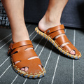 2016 Summer New Men's Casual Real Leather Sandals Men Sandals Slippers Breathable Sandals SIZE 39-44 Free Shipping