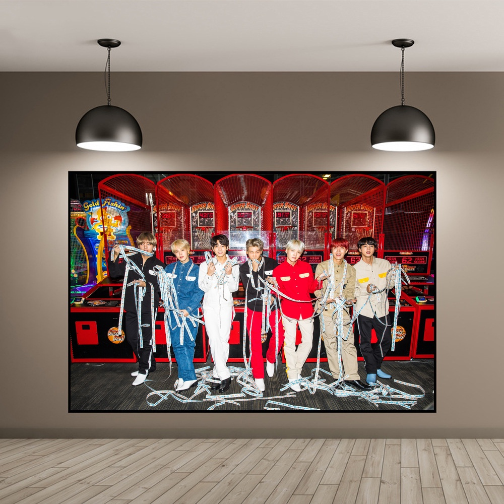 BTS K POP Art Silk Poster Music Poster Wall Pictures For