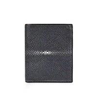 Minimalist Style Genuine Stingray Leather Three fold Man Short Wallet Exotic Skate Skin Ultrathin Male Purse Men's Card Holder