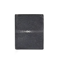 Ultra thin Style Genuine Smooth Stingray Leather Three fold Man Short Wallet Exotic Real Skate Skin Male Purse Men Card Holder