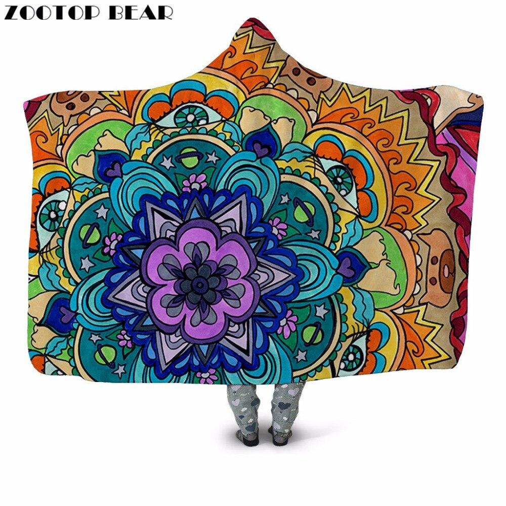 Fleur & Pig 3D Impression En Peluche À Capuchon Couverture pour Adulte Jeunesse Enfant Chaud Portable Canapé couverture en laine Maison Bureau Lavable Nouveau