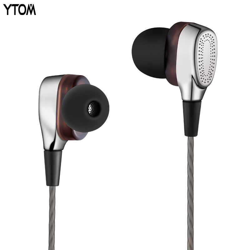 Super bass earphone dual unit In Ear Headphone Noise-isolating Wired Earbuds Sweatproof Sport Earphones with Mic for phone MP3