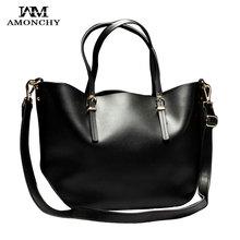100% Genuine Leather Women Bags Cowhide Women Handbags Famous Brand Ladies Shoulder Bags Large Composite Bag Black Totes Bolsas
