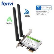 600 mbps 듀얼 밴드 무선 wifi 어댑터 데스크탑 wlan wifi 블루투스 bt 4.0 802.11 a/b/g/n pci express 1x/8x/16x 카드