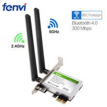 300 Мбит/с Настольный Dual Band Беспроводной-n ar5bwb222 WIFI BT 4.0 Bluetooth 802.11 a/b/g/ N PCI-Express 1x/4x/16x адаптер fenvi fv8303(China)