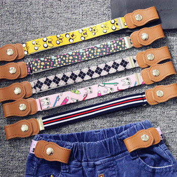2018 Hot New Children Elastic Belt Pants For Girls  Boys Anti Deduction Belt Baby Nursery Essential 16 Colour Kid's Jeans Belt
