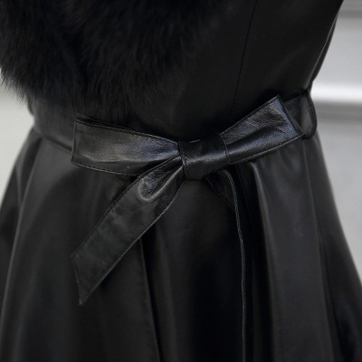 Cuir Pu Et Femme V Lâche Bomber En D'hiver De Manteaux Veste Noir Décontracté Cou Faux Femmes Mode Long Pardessus Vestes CqxwTpXF