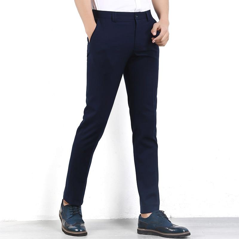 Ropa de marca Hombre Traje Pantalones Hombre Vestido Slim Fit - Ropa de hombre
