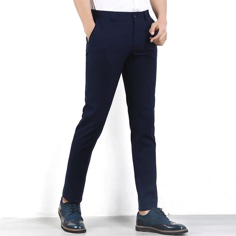 Ropa De Marca Para Hombre Pantalones Estrechos De Hombre Pantalones De Vestir Ajustados Pantalones De Hombre De Negocios Pantalones De Hombre Pantalon Azul Marino En Oferta Pants Mens Pants Punksuit Pant Aliexpress