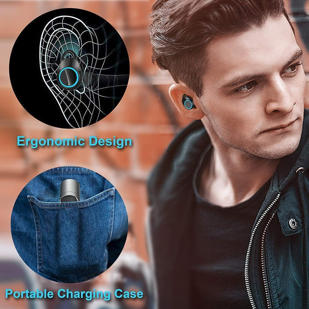 TWS X8 Bluetooth 5 0 Wireless Earphones IPX5 Waterproof Sport Wireless Earbuds HiFi Stereo Bluetooth Earphone with Charging Box in Bluetooth Earphones Headphones from Consumer Electronics