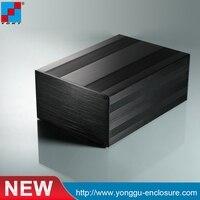 YGS 020 145 82 160mm W X H L Aluminum Aluminum Pcb Enclosure Black Extrusion Box