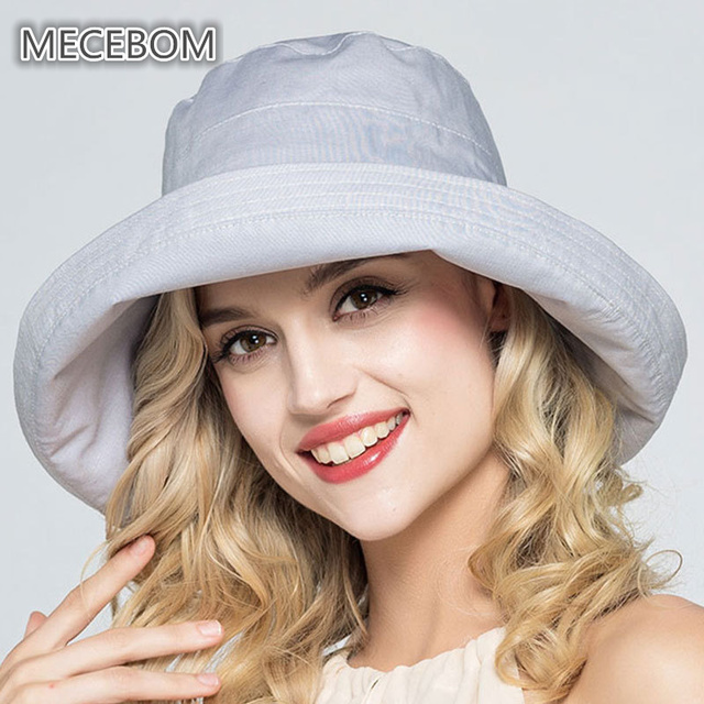 2018 Women Summer Hat Beach Wide Brim Fisherman Visor Cap Linen Big Bowknot  Ladies Bucket Hats e9c4c749daf