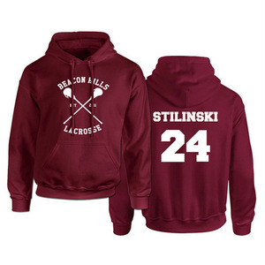 Image 1 - Teen Wolf Hoodie Mannen Stilinski 24 Lahey McCall Sweatshirt Mannelijke Print Rode Hooded Heren Hoodies Hip Hop Hoddies Streetwear
