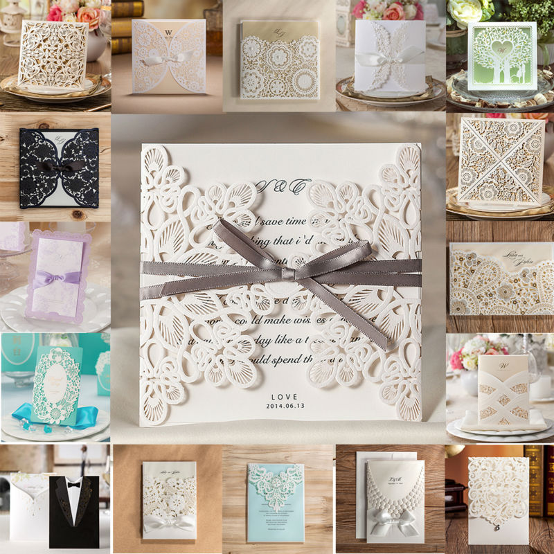 Wedding Invitations Business: 1pcs/set Wishmade Wedding Invitations Samples Hollow Lace