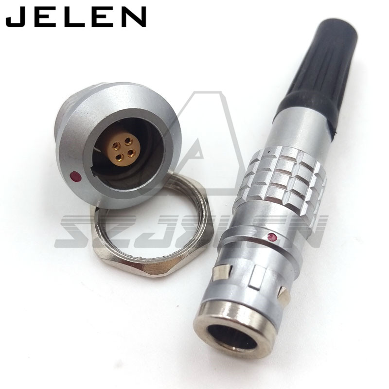 LEMO 4 pin connectors,  FGG/EGG.0k.304. Male and female connectors, 4 pins Metal round waterproof connector, IP67 цены онлайн