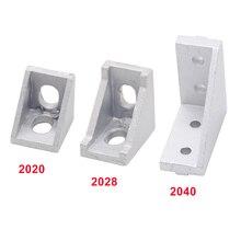 2028 2040 угловой кронштейн угловой Алюминиевый 20X20 20X28 20x40 L Соединительный кронштейн