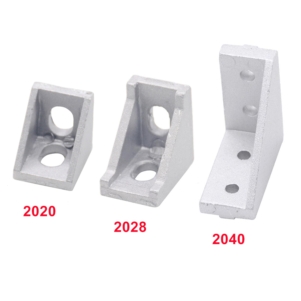 2020 2028 2040 Corner Bracket Fitting Angle Aluminum 20X20 20X28 20x40 L Connector Bracket