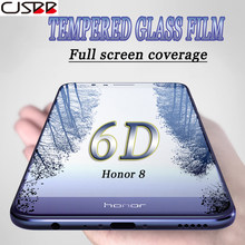 6D Full Cover Protective Tempered Glass For Huawei Honor 8 V9 V10 9 Honor 9 P9 P10 P20 lite PRO Plus Screen Protector Film Glass(China)