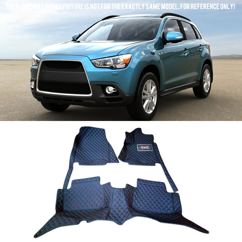 Car Floor Mats Carpets Foot Pads Protector Cover Kit For Mitsubishi Outlander Sport/RVR/ASX 2011 2012 Car-styling chrome body door side molding cover trim for mitsubishi asx rvr outlander sport
