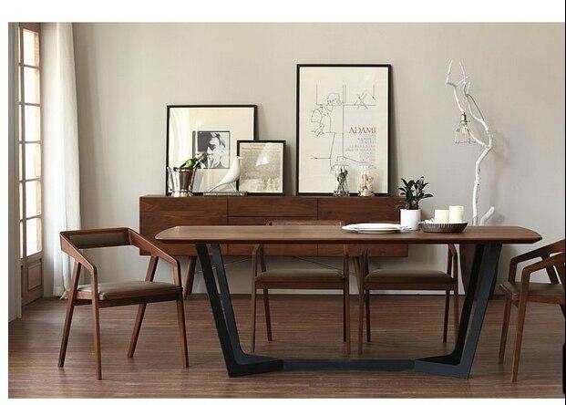 Nordic ikea bois massif table à manger bureau minimaliste peinture
