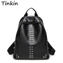 Tinkin Колледж школьные рюкзак Сумки для подростков Винтаж Mochila Повседневное Рюкзак Путешествия Рюкзак