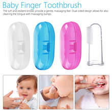 Baby Finger Toothbrush Silicon Toothbrush+Box Children Teeth Clear Soft Silicone Infant Tooth Brush Rubber Cleaning Baby Brush 1 new flying woven mesh breathable women s shoes casual wild lace mesh women s sneakers shoes fashion lightweight casual shoes