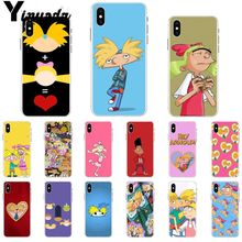 Yinuoda Hey Arnold Soft Silicone Transparent Phone Case for Apple iPhone 8 7 6 6S Plus X XS MAX 5 5S SE XR Cover