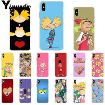 Yinuoda Hey Arnold Soft Silicone Transparent Phone Case for Apple iPhone 8 7 6 6S Plus X XS MAX 5 5S SE XR Cover image