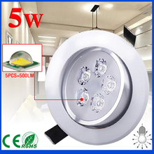 4pcs free shipping Dimmable 3W 5W 7W led Ceiling Light spotlight CREE LED downlight  white shell cool warm white light