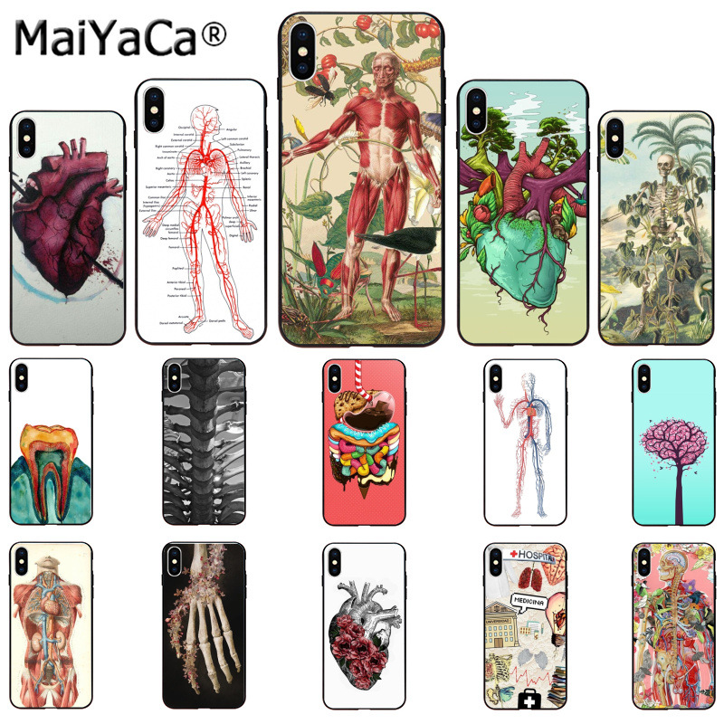 MaiYaCa Flower CASE DESIGNS HUMAN ANATOMY Newly Arrived Cell Phone Case for iphone SE 2020 11 pro 8 7 66S Plus X XS MAX 5S SE XR