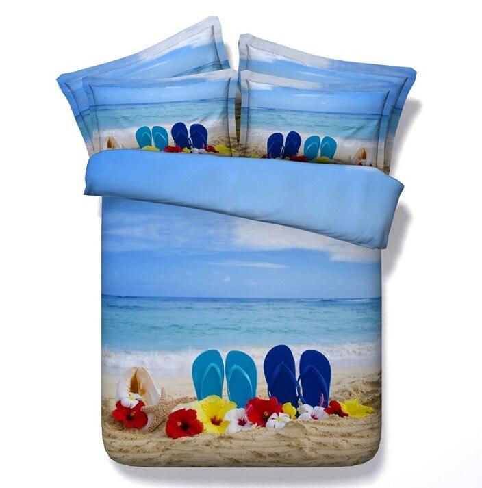 Beach Comforter Sets 3d Bedding Queen Duvet Cover Blue