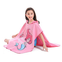 Children Beach Towel microfiber bathrobe Poncho Hooded washrag multicolor Absorbent Quick drying Easy for Changing Cloth brand