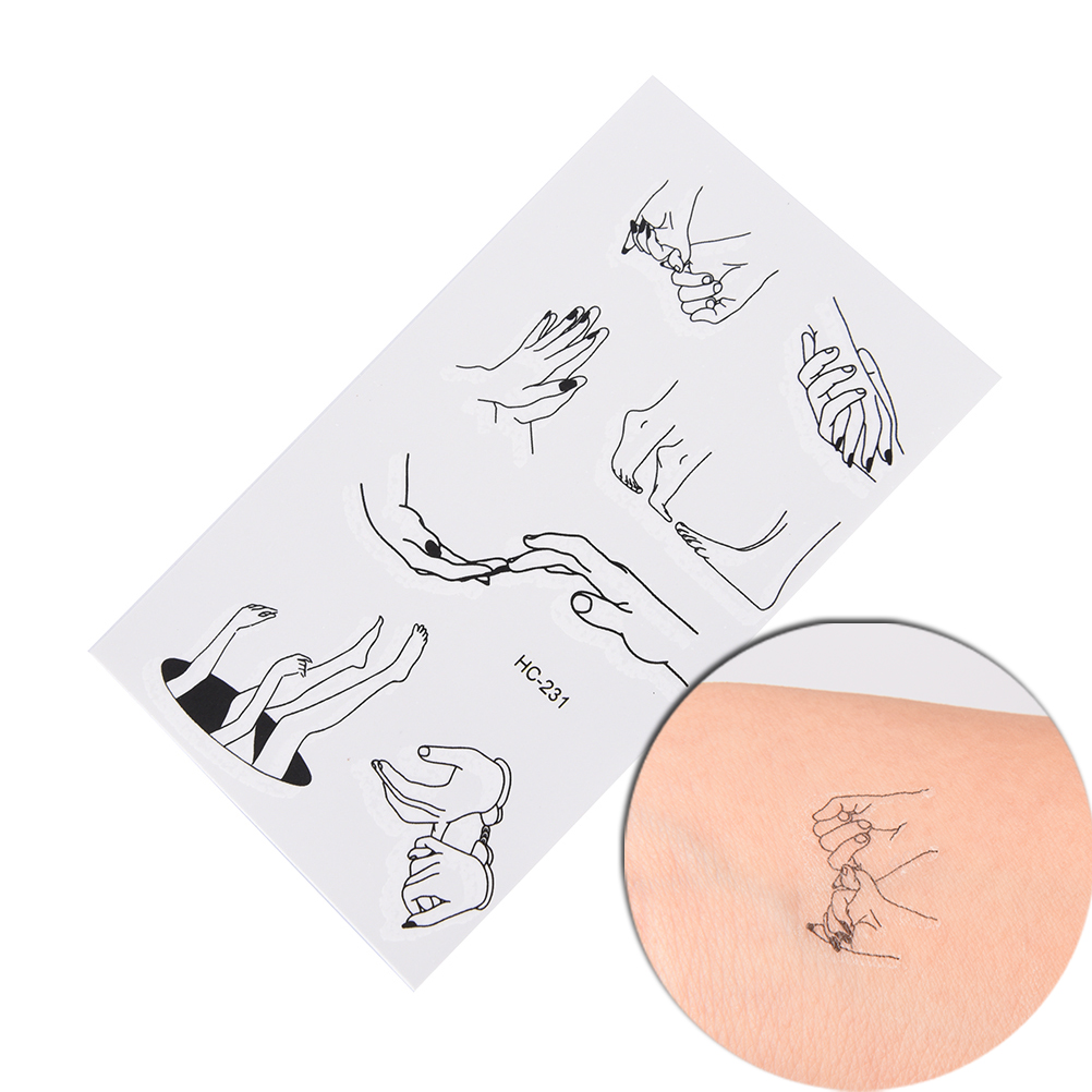 Art Sexy Harajuku Waterproof Temporary Tattoo 10.5*6cm Fake Flash Tattoo Sticker Fingers Toes Body