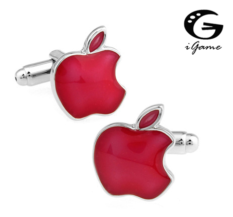 IGame Fashion Fruit Cuff Links 3 Colors Option Apple Design Free Shipping