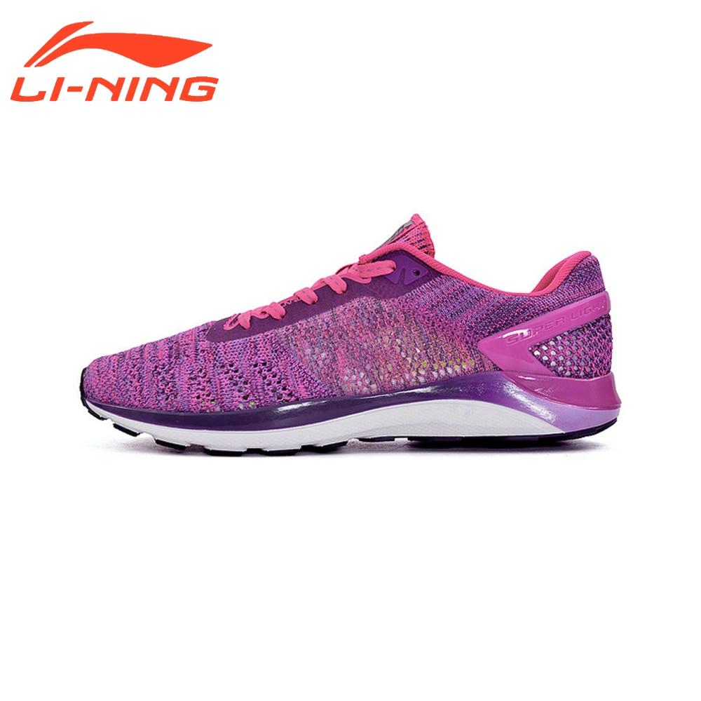 Li-Ning Women Light-Weight Running Shoes Cushioning DMX Smarting Running Shoes Sports Brand LiNing Sneakers ARBM028 original li ning men professional basketball shoes