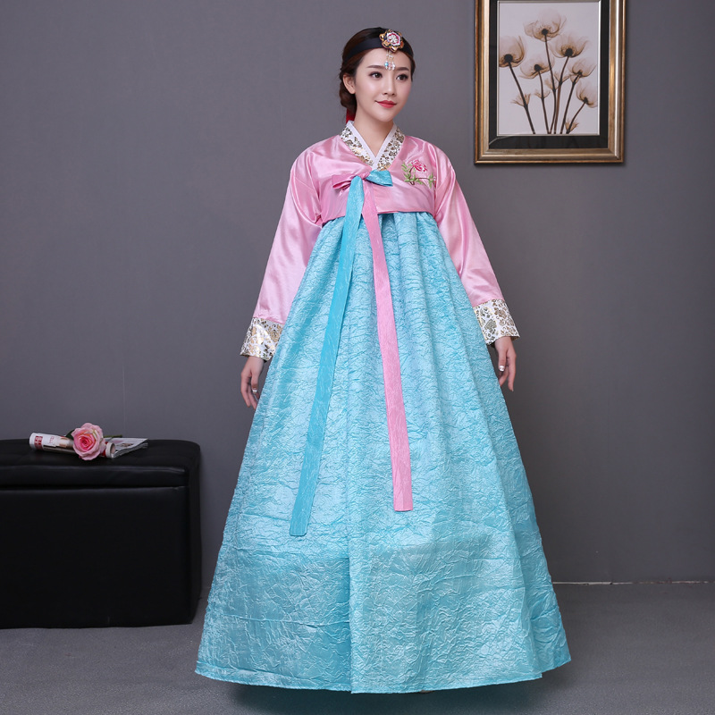 High Qulaity Korean Hanbok Clothing Women Traditional Hanbok Dress Dance Costume Clothing