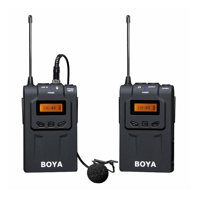 BOYA BY WM6 Wireless Microphone w Transmitter 48 Channel Omni directional Lavalier Microphone UHF for DSLR