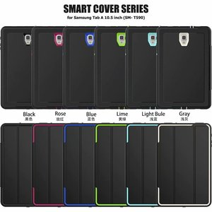 Image 2 - Full Protection Case For Samsung Galaxy Tab A 10.5 2018 SM T590 T595 T597 Safe Shockproof Heavy Duty TPU Hard Cover Kickstand