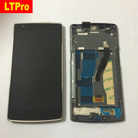 High Quality Full LCD Display Touch Screen Digitizer Assembly With Frame For Oneplus One SmartPhone1920 1080