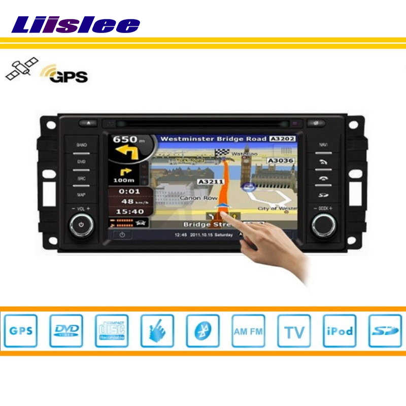 Liislee Car GPS Map Nav Navi Navigation For Jeep Wrangler 2007~2011 Radio CD DVD iPod Bluetooth HD Screen S160 Multimedia System