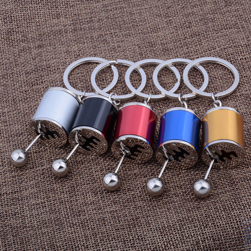 цены на New Arrival Car Modified Keychains Zinc Alloy Gear Shift Stick Key Holder Cylinder Wave Motor Key Protector for Men SP0774 в интернет-магазинах