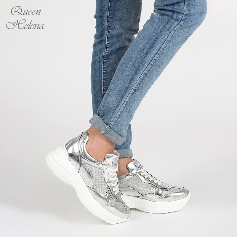 Silver Slope Heel Sports Shoes